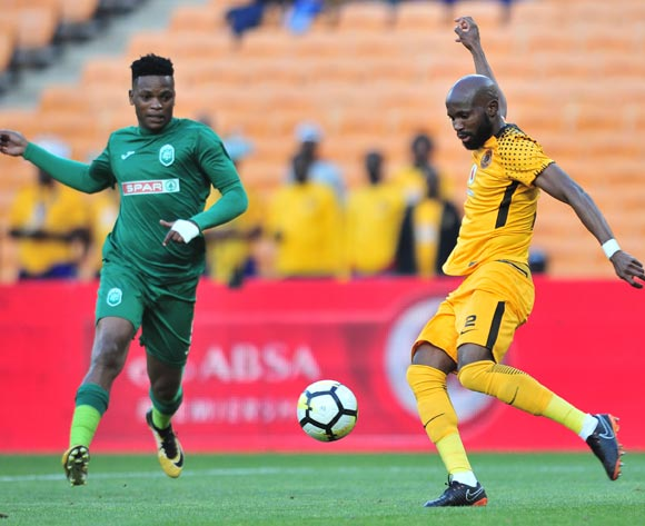 Ramahlwe Mphahlele of Kaizer Chiefs  challenged by Mhlengi Cele of AmaZulu during the Absa Premiership 2017/18 match between Kaizer Chiefs and AmaZulu at FNB Stadium, Johannesburg on 17 March 2018 ©Samuel Shivambu/BackpagePix