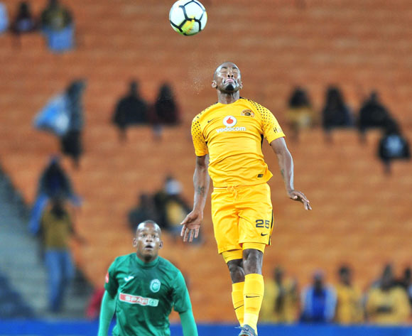 Bernard Parker of Kaizer Chiefs challenged by Phumlani Gumede of AmaZulu during the Absa Premiership 2017/18 match between Kaizer Chiefs and AmaZulu at FNB Stadium, Johannesburg on 17 March 2018 ©Samuel Shivambu/BackpagePix