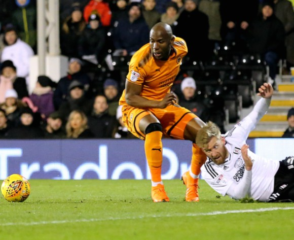 DRC striker Afobe relieved after scoring first Wolves goal