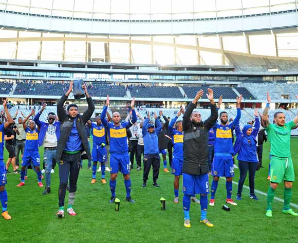 Cape Town City players thank their fans after the Absa Premiership 2017/18 game between Cape Town City and Orlando Pirates at Cape Town Stadium on 28 April 2018 © Ryan Wilkisky/BackpagePix