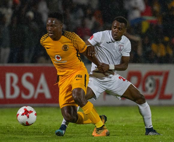 Philani Zulu of Kaizer Chiefs and Harris Tchilimbou of Free State Stars during the Absa Premiership 2017/18 game between Free State Stars and Kaizer Chiefs at Goble Park, Bethlehem on 4 April 2018 © Frikkie Kapp/BackpagePix