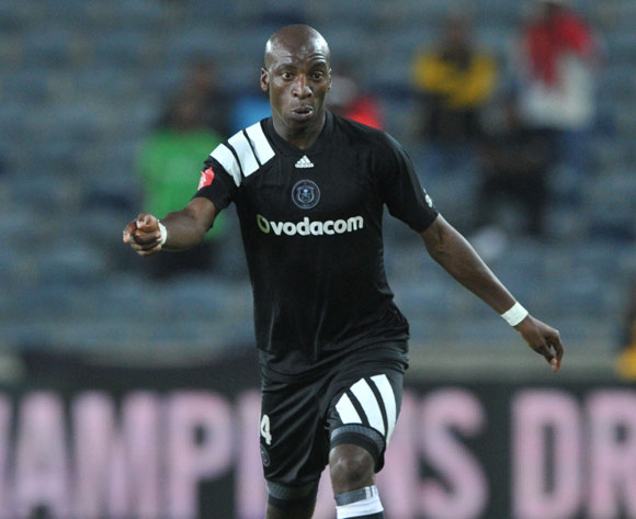 Musa Nyatama of Orlando Pirates  during the Absa Premiership match between Orlando Pirates and Bloemfontein Celtic on 04 April  2018 at Orlando Stadium Pic Sydney Mahlangu/BackpagePix