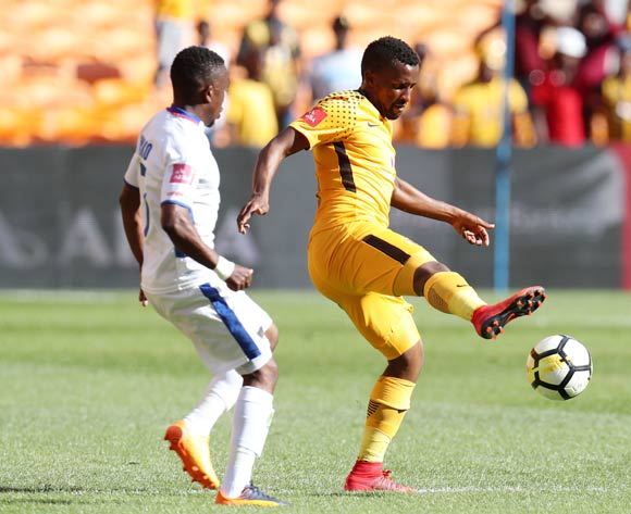 Bongolethu Jayiya of Kaizer Chiefs challenged by Paseka Mako of Chippa United during the Absa Premiership 2017/18 match between Kaizer Chiefs and Chippa United at FNB Stadium, Johannesburg on 07 April 2018 ©Muzi Ntombela/BackpagePix