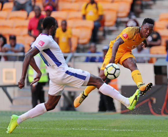 Philani Zulu of Kaizer Chiefs challenged by Frederic Nsabiyumva of Chippa United during the Absa Premiership 2017/18 match between Kaizer Chiefs and Chippa United at FNB Stadium, Johannesburg on 07 April 2018 ©Muzi Ntombela/BackpagePix