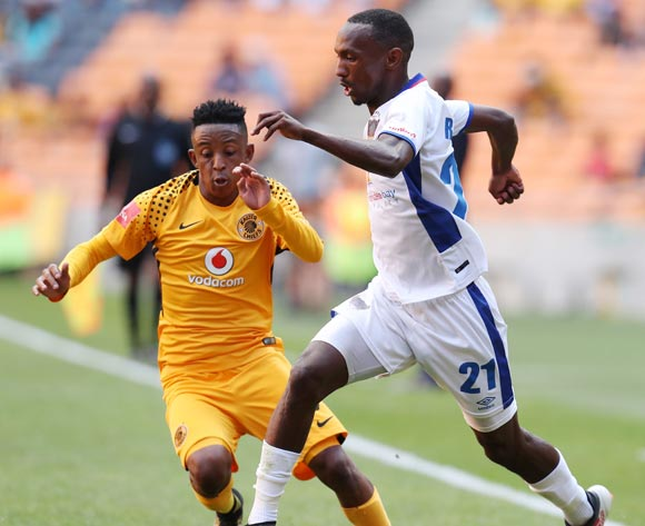 Thabo Rakhale of Chippa United challenged by Hendrick Ekstein of Kaizer Chiefs during the Absa Premiership 2017/18 match between Kaizer Chiefs and Chippa United at FNB Stadium, Johannesburg on 07 April 2018 ©Muzi Ntombela/BackpagePix