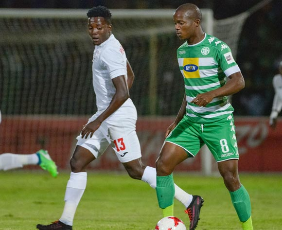Latshene Phalane of Bloemfontein Celtic Thabo Maphakisa of Free State Stars during the Absa Premiership 2017/18 game between Free State Stars and Bloemfontein Celtic at Goble Park, Bethlehem on 14 April 2018 © Frikkie Kapp/BackpagePix