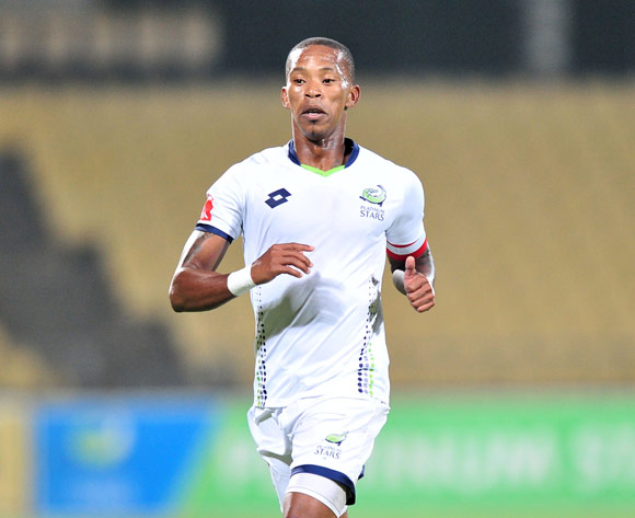 Vuyo Mere of Platinum Stars during the Absa Premiership 2017/18 football match between Platinum Stars and AmaZulu at Royal Bafokeng Stadium, Rustenburg on 25 April 2018 ©Samuel Shivambu/BackpagePix