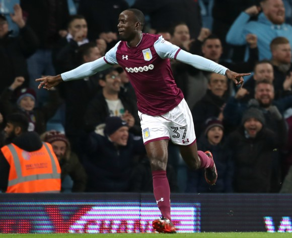 Aston Villa's Albert Adomah ready for dancing celebrations