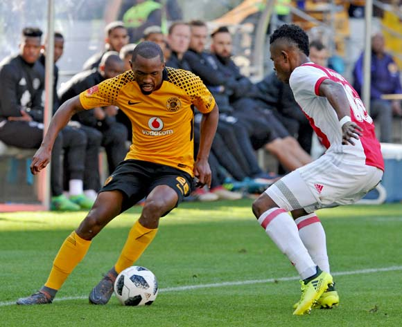 Bernard Parker of Kaizer Chiefs takes on Rodrick Kabwe of Ajax Cape Town during the Absa Premiership 2017/18 game between Ajax Cape Town and Kaizer Chiefs at Cape Town Stadium on 12 May 2018 © Ryan Wilkisky/BackpagePix