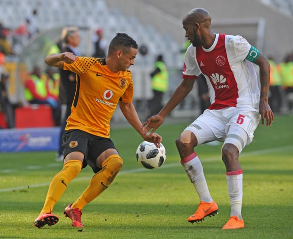 Gustavo Paez of Kaizer Chiefs takes on Mosa Lebusa of Ajax Cape Town during the Absa Premiership 2017/18 game between Ajax Cape Town and Kaizer Chiefs at Cape Town Stadium on 12 May 2018 © Ryan Wilkisky/BackpagePix