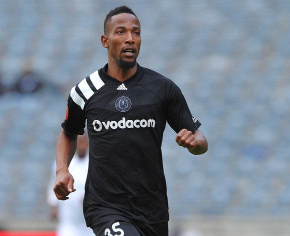 Diamond Thopola of Orlando Pirates during the Absa Premiership match between Orlando Pirates and  Free State Stars on12 May  2018 at Orlando Stadium Pic Sydney Mahlangu/BackpagePix