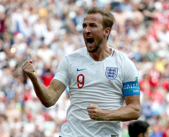 epa06835769 Harry Kane of England reacts after scoring the 2-0 during the FIFA World Cup 2018 group G preliminary round soccer match between England and Panama in Nizhny Novgorod, Russia, 24 June 2018.