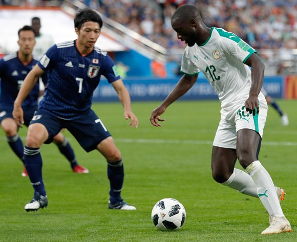 epa06836874 Youssouf Sabaly of Senegal in action during the FIFA World Cup 2018 group H preliminary round soccer match between Japan and Senegal in Ekaterinburg, Russia, 24 June 2018.