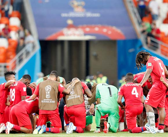 epa06848573 Players of Panama react after the FIFA World Cup 2018 group G preliminary round soccer match between Panama and Tunisia in Saransk, Russia, 28 June 2018.