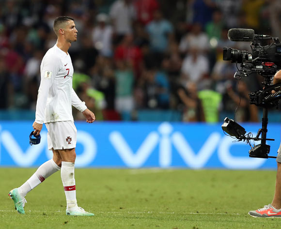 epa06853471 Cristiano Ronaldo of Portugal reacts after the FIFA World Cup 2018 round of 16 soccer match between Uruguay and Portugal in Sochi, Russia, 30 June 2018.