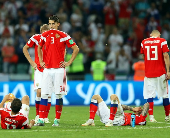 Hosts Russia bow out in dramatic circumstances
