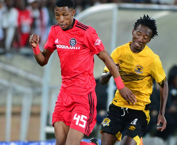 Vincent Pule of Orlando Pirates and Tumelo Khutlang of Black Leopards during the Absa Premiership 2018/19 game between Black Leopards and Orlando Pirates at Peter Mokaba Stadium in Polokwane the on 28 August 2018 © Kabelo Leputu/BackpagePix