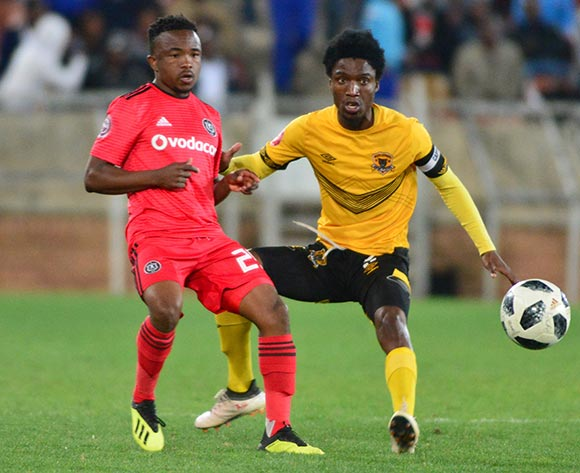 Paseka Mako of Orlando Pirates and Marks Munyai of Black Leopards during the Absa Premiership 2018/19 game between Black Leopards and Orlando Pirates at Peter Mokaba Stadium in Polokwane the on 28 August 2018 © Kabelo Leputu/BackpagePix