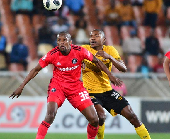 Linda Mntambo of Orlando Pirates and Eden Nene of Black Leopards during the Absa Premiership 2018/19 game between Black Leopards and Orlando Pirates at Peter Mokaba Stadium in Polokwane the on 28 August 2018 © Kabelo Leputu/BackpagePix
