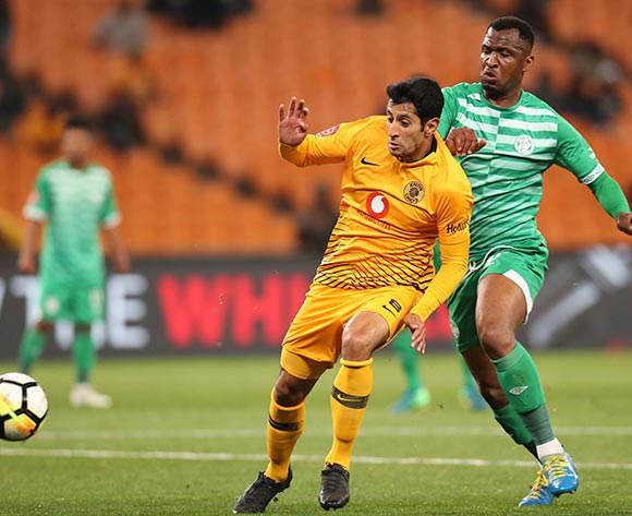 Leonardo Castro of Kaizer Chiefs challenged by Alfred Ndengane of Bloemfontein Celtic during the Absa Premiership 2018/19 match between Kaizer Chiefs and Bloemfontein Celtics at the FNB Stadium, Johannesburg on 29 August 2018 ©Muzi Ntombela/BackpagePix