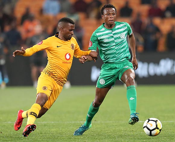Bongani Sam of Bloemfontein Celtics challenged by Bongolethu Jayiya of Kaizer Chiefs during the Absa Premiership 2018/19 match between Kaizer Chiefs and Bloemfontein Celtics at the FNB Stadium, Johannesburg on 29 August 2018 ©Muzi Ntombela/BackpagePix