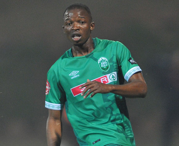 Butholezwe Ncube of AmaZulu during the Absa Premiership match between AmaZulu and Baroka FC on the 04 August 2018 at King Zwelithini Stadium Pic Sydney Mahlangu/BackpagePix