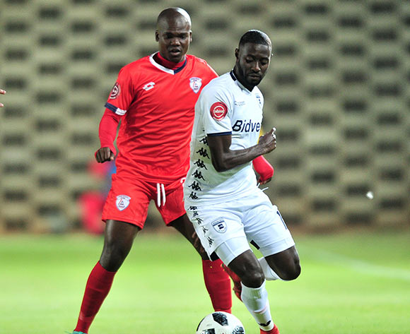 Deon Hotto of Bidvest Wits challenged by Goodman Dlamini of Free State Stars during the Absa Premiership 2018/19 match between Bidvest Wits and Free State Stars at Bidvest Stadium, Johannesburg on 04 August 2018 ©Samuel Shivambu/BackpagePix