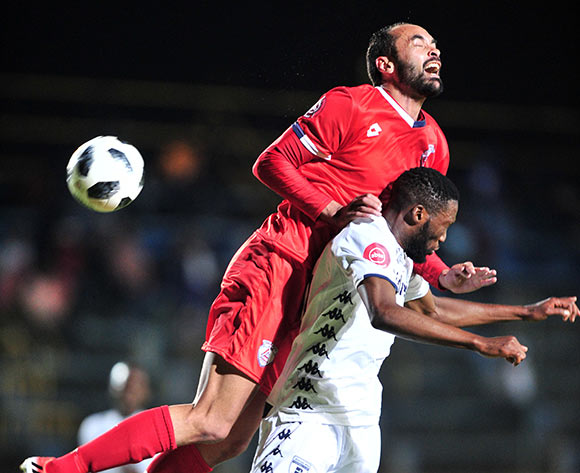 Eleazar Rodgers of Free State Stars challenged by Buhle Mkhwanazi of Bidvest Wits during the Absa Premiership 2018/19 match between Bidvest Wits and Free State Stars at Bidvest Stadium, Johannesburg on 04 August 2018 ©Samuel Shivambu/BackpagePix