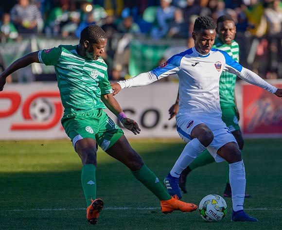 Thamsanqa Sangweni of Chippa United and Ndumiso Mabena of Bloemfontein Celtic during the Absa Premiership 2018/19 game between Bloemfontein Celtic and Chippa United at Dr Molemela Stadium in Bloemfontein on 5 August 2018 © Frikkie Kapp/BackpagePix