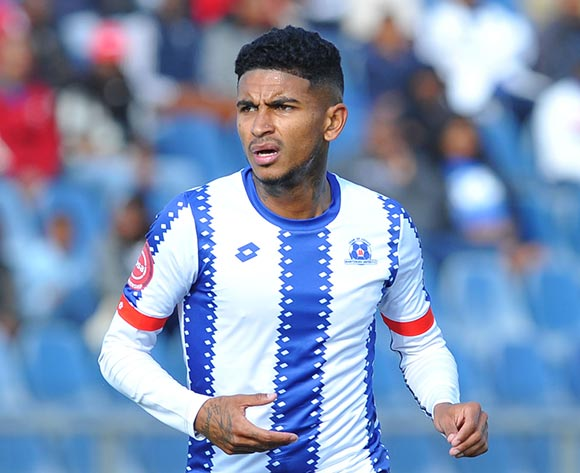 Keagan Buchanan of Maritzburg United  during the Absa Premiership match Maritzburg United and Golden Arrows on the 05 August 2018 at Harry Gwala Stadium Pic Sydney Mahlangu/BackpagePix