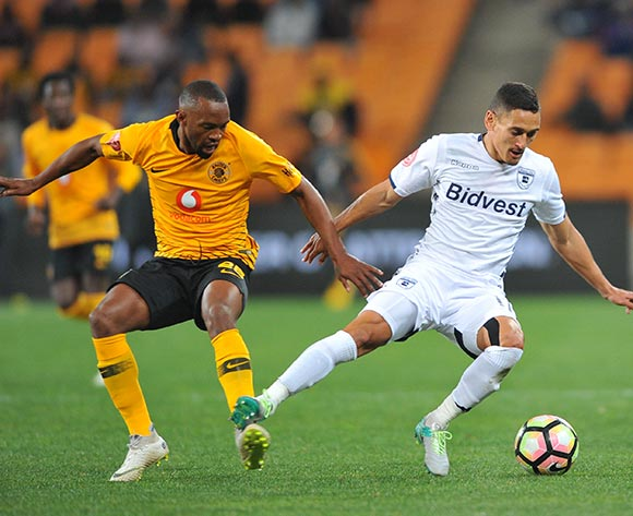Cole Alexander of Bidvest Wits is challenged by Bernard Parker  of Kaizer Chiefs during the Absa Premiership match between Kaizer Chiefs and Bidvest Wits on the 07 August 2018 at FNB Stadium Pic Sydney Mahlangu/BackpagePix