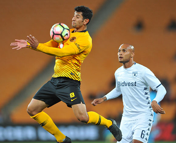 Robyn Johannes of Bidvest Wits challenges Leonardo Castro of Kaizer Chiefs during the Absa Premiership match between Kaizer Chiefs and Bidvest Wits on the 07 August 2018 at FNB Stadium Pic Sydney Mahlangu/BackpagePix