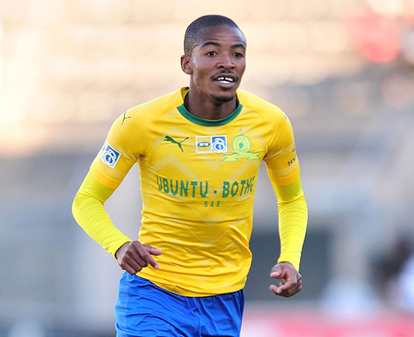 Thapelo Morena of Mamelodi Sundowns during the 2018 MTN8 quarter finals match between Mamelodi Sundowns and Golden Arrows at Lucas Moripe Stadium, Pretoria on 11August 2018 ©Samuel Shivambu/BackpagePix