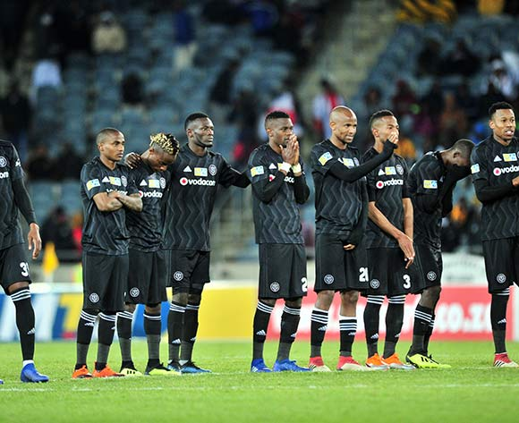 Orlando Pirates players dejected during the 2018 MTN8 quarter finals match between Orlando Pirates and Supersport United at Orlando Stadium, Johannesburg on 11 August 2018 ©Samuel Shivambu/BackpagePix