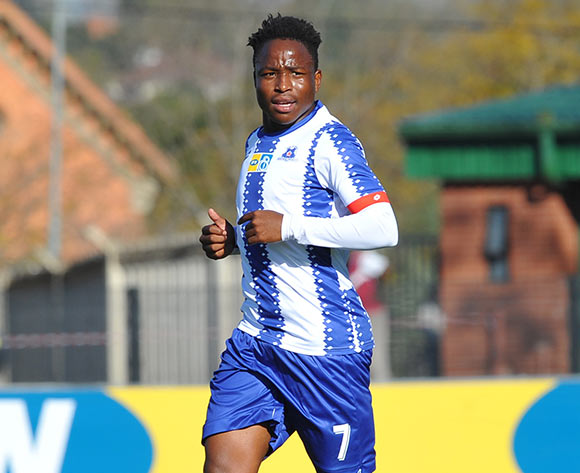 Keletso Makgalwa of Maritzburg United during the MTN 8 Quarter final match between Maritzburg United and Cape Town City on the 12 August 2018 at Harry Gwala Stadium Pic Sydney Mahlangu/BackpagePix