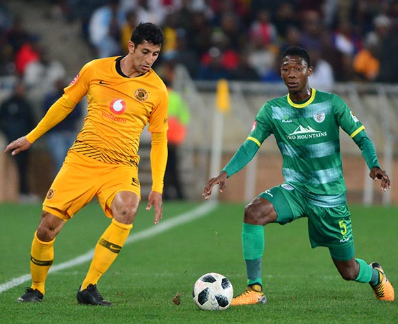 Leonardo Castro of Kaizer Chiefs and Mduduzi Mdatsane of Baroka FC during the Absa Premiership 2018/19 game between Baroka FC and Kaizer Chiefs at Peter Mokaba Stadium in Polokwane the on 14 August 2018 © Kabelo Leputu/BackpagePix
