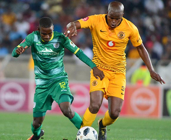 Richard Matloga of Baroka FC and Willard Katsande of Kaizer Chiefs during the Absa Premiership 2018/19 game between Baroka FC and Kaizer Chiefs at Peter Mokaba Stadium in Polokwane the on 14 August 2018 © Kabelo Leputu/BackpagePix