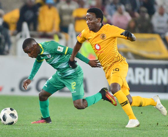 Richard Matloga of Baroka FC and Siphelele Ntshangase of Kaizer Chiefs during the Absa Premiership 2018/19 game between Baroka FC and Kaizer Chiefs at Peter Mokaba Stadium in Polokwane the on 14 August 2018 © Kabelo Leputu/BackpagePix