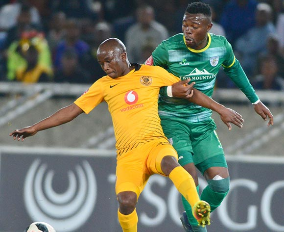 Siphosakhe Ntiyantiya of Kaizer Chiefs and Matome Kgoetyane of Baroka FC during the Absa Premiership 2018/19 game between Baroka FC and Kaizer Chiefs at Peter Mokaba Stadium in Polokwane the on 14 August 2018 © Kabelo Leputu/BackpagePix