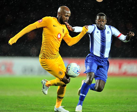 Ramahlwe Mphahlele of Kaizer Chiefs challenged by Siphesihle Ndlovu of Maritzburg United during the Absa Premiership 2018/19 match between Maritzburg United and Kaizer Chiefs at Harry Gwala Stadium, Pietermaritzburg on 17 August 2018 ©Samuel Shivambu/BackpagePix