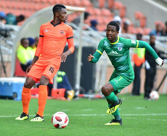 Talent Chawapihwa of Baroka FC and Walter Musona of Polokwane City during the Absa Premiership 2018/19 game between Polokwane City and Baroka FC at Peter Mokaba Stadium in Polokwane the on 18 August 2018 © Kabelo Leputu/BackpagePix