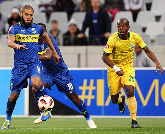 Ebrahim Seedat of Cape Town City runs at the Arrows defence during the Absa Premiership 2018/19 game between Cape Town City and Golden Arrows at Cape Town Stadium on 18 August 2018 © Ryan Wilkisky/BackpagePix