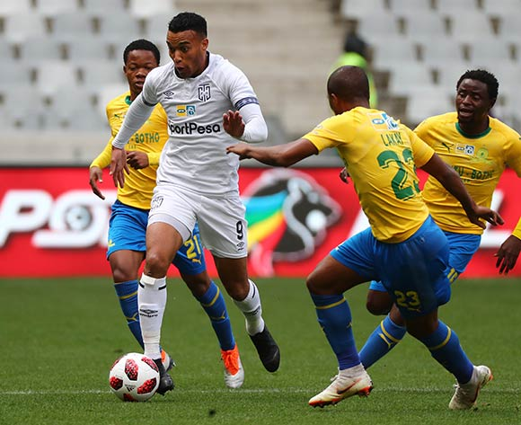 Matthew Rusike of Cape Town City FC during the 2018 MTN 8 Semifinal first leg football match between Cape Town City FC and Mamelodi Sundowns at Cape Town Stadium, Cape Town on 25 August 2018 ©Chris Ricco/BackpagePix