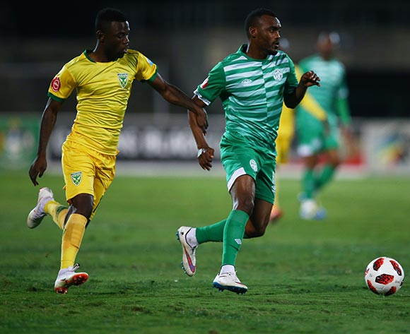 Given Mashikinya of Bloemfontein Celtic F.C. on attack during the Absa Premiership 2018/19 game between Golden Arrows and Bloemfontein Celtic at Princess Magogo Stadium, KwaZulu-Natal on 8 August 2018 © Steve Haag/BackpagePix