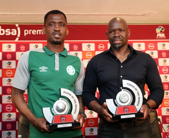Komphela and Ndengane first recipients of monthly Absa Premiership best Coach and Player of the Month