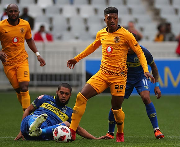 Dumsani Zuma of Kaizer Chiefs evades challenge from Ebrahim Seedat of Cape Town City during the Absa Premiership 2018/19 football match between Cape Town City FC and Kaizer Chiefs at Cape Town Stadium, Cape Town, 15 September 2018 ©Chris Ricco/BackpagePix