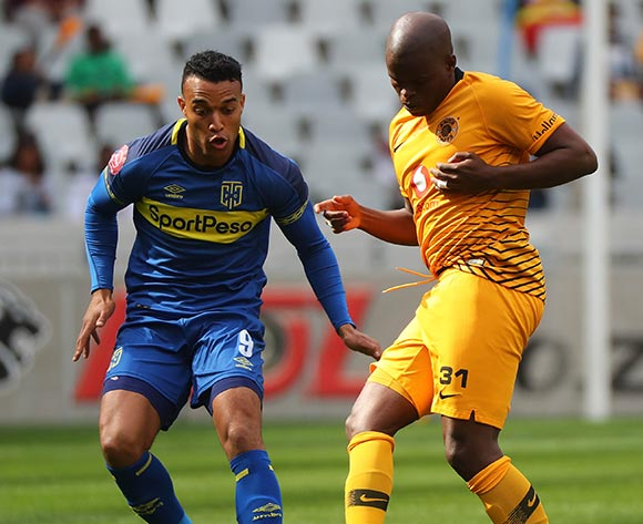 Willard Katsande of Kaizer Chiefs evades challenge from Matthew Rusike of Cape Town City during the Absa Premiership 2018/19 football match between Cape Town City FC and Kaizer Chiefs at Cape Town Stadium, Cape Town, 15 September 2018 ©Chris Ricco/BackpagePix
