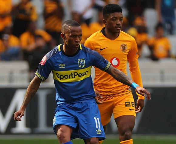 Suprise Ralani of Cape Town City evades challenge from Dumsani Zuma of Kaizer Chiefs during the Absa Premiership 2018/19 football match between Cape Town City FC and Kaizer Chiefs at Cape Town Stadium, Cape Town, 15 September 2018 ©Chris Ricco/BackpagePix