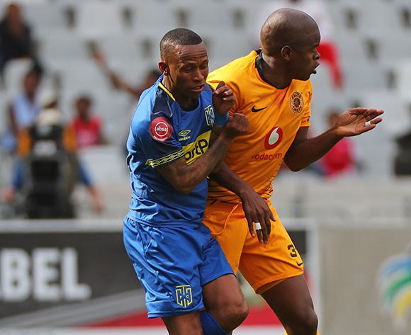 Surprise Ralani of Cape Town City battles for the ball with Willard Katsande of Kaizer Chiefs during the Absa Premiership 2018/19 football match between Cape Town City FC and Kaizer Chiefs at Cape Town Stadium, Cape Town, 15 September 2018 ©Chris Ricco/BackpagePix
