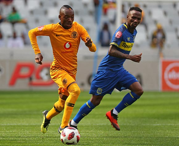 Khama Billiat of Kaizer Chiefs Golden Arrows fans Teko Modise of Cape Town City during the Absa Premiership 2018/19 football match between Cape Town City FC and Kaizer Chiefs at Cape Town Stadium, Cape Town, 15 September 2018 ©Chris Ricco/BackpagePix